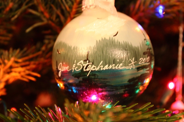 One of our favorite ornaments my mom got us in Alaska last year