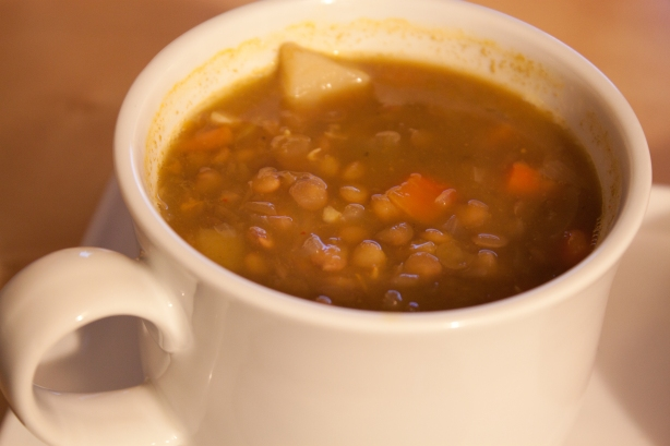 Lame me didn't take a photo last night, so here's a photo of the last batch of lentil soup I made