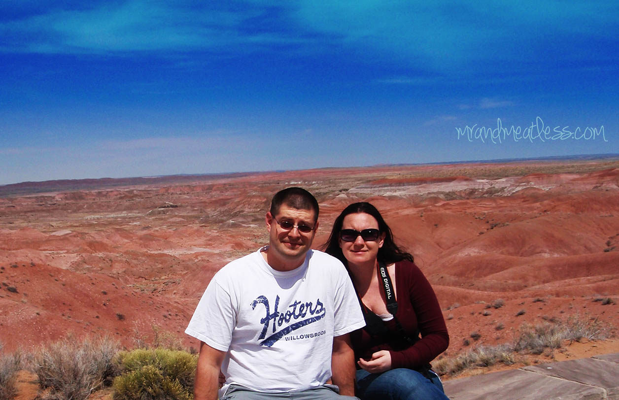 Jim and I at the Painted Desert in Arizona
